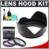 Pro ET-65B 58mm Hard Lens Hood & 3 (UV/FLD/CPL) Filter Set for Canon EF 70-300mm f/4-5.6 IS USM Zoom Lens (with EOS 50D, 7D, Rebel XSi, XS, T1i, T2i Digital SLR Camera)