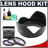 Pro EW-60C 58mm Hard Lens Hood & 3 (UV/FLD/CPL) Filter Set for Canon EF-S 1 ....