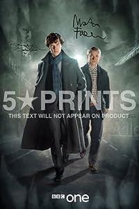 Sherlock Signed PP Benedict Cumberbatch Martin Freeman 12x8 Photo Poster Perfect Gift