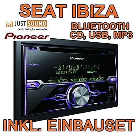 Seat ibiza 6J anthracyte-noir-pioneer fH-x720BT d'autoradio 2 dIN avec bluetooth uSB