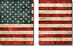 Allegiance by Luke Wilson 2-pc Premium Stretched Canvas Custom United States Flag Set (Ready to Hang)