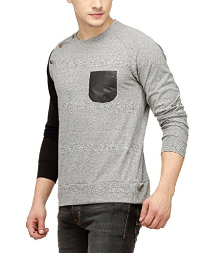 Campus-Sutra-Men-Shoulder-Button-Full-Sleeve-T-Shirt-With-Pocket