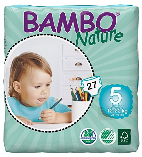 Bambo Nature Premium Baby Diapers, Junior, 27 Count