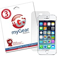 myGear Products iPhone 5S, 5, 5C LifeGuard Screen Protector Film (3 Pack) Clear NEWEST MODEL, Lifetime Warranty