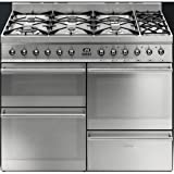 Smeg SY4110-8 Symphony 110cm Dual Fuel Range Cooker - Stainless Steel