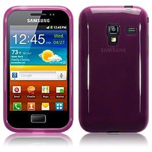 Samsung Galaxy Ace Plus S7500 TPU Gel Skin Case / Cover - Purple Part Of The Qubits Accessories Range