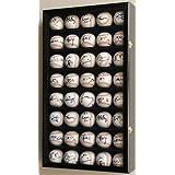 40 Baseball Display Case Cabinet Holder Wall Rack w  UV Protection by sfDisplay