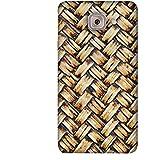 PrintVisa Designer Back Case Cover For Samsung Galaxy On Max (Brown Golden Black Wood Mat)