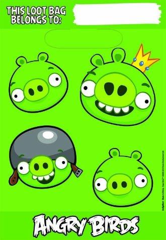 Imagen de Partido Angry Birds Suministros bolsas de botín Sacs Un Butin - 8 Cada