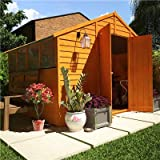 BillyOh 8' x 10' Overlap Double Door Apex Garden Shed