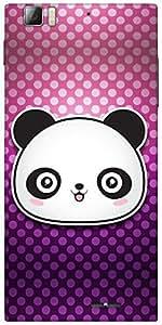 Snoogg Cute Panda Designer Protective Back Case Cover For Lenovo K900