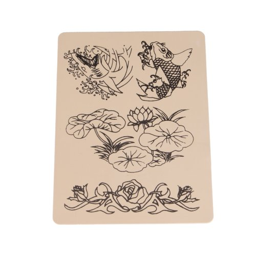 5 x sheets of assorted mixed designs tattoo tattooing practice skins for needle machine supply 8. Black Bedroom Furniture Sets. Home Design Ideas
