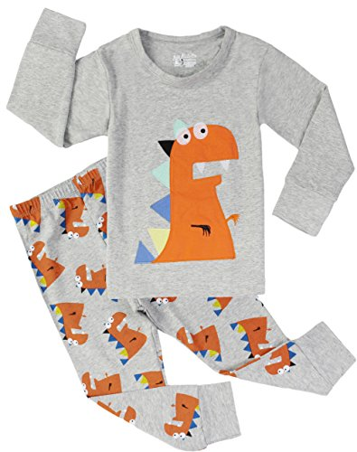 Dinosaur Boys Pajamas Toddler Cotton Sleepwear Clothes Set Kids 2 Piece Outfit