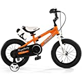 "R BABY 14"" INCHES FREESTYLE BMX KIDS BIKE IN COLOUR RED GREEN BLUE AND WHITE + free heavy duty adjustable removable stabilisers+ free sports water bottle and holder"