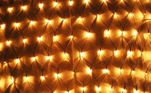 Aleko® El-N150Bb 150 Led Warm White Net Mesh Fairy String Light Christmas Lights Lighting Party Wedding Xmas Tree-Wrap