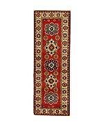 L'EDEN DEL TAPPETO Alfombra Uzebekistan Super Rojo/Beige 63 x 188 cm