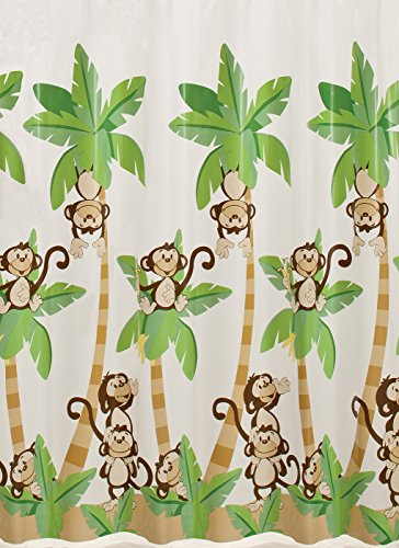 Monkey Town Vinyl Shower Curtain