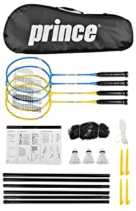 Buy Prince Strike 4 Player Badminton Set by Prince