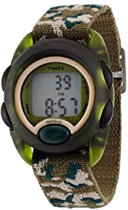Timex Kids' T71912 Digital Camo Elastic Fabric Strap Watch