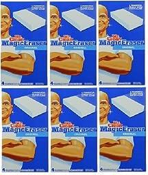 Mr. Clean Magic Eraser, Original, 6 Packs of 4 Each. Total 24 Count