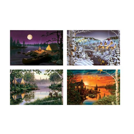 Bucket of Fun American Landscapes (4) 500 pc Quart