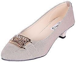 Goyal Womens Cream Synthetic Ballet Flats - 6 UK
