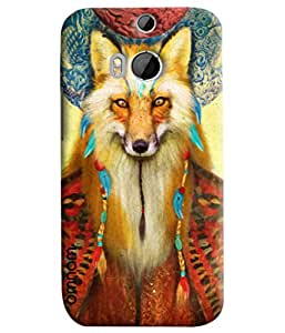 Omnam Wolf Face Printed Designer Back Cover Case For HTC One M8
