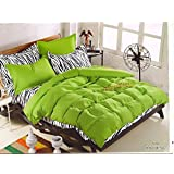 WRAP 100% PREMIUM QUALITY REVERSIBLE DOUBLE BED 4PC COMFORTER SET SMC-10