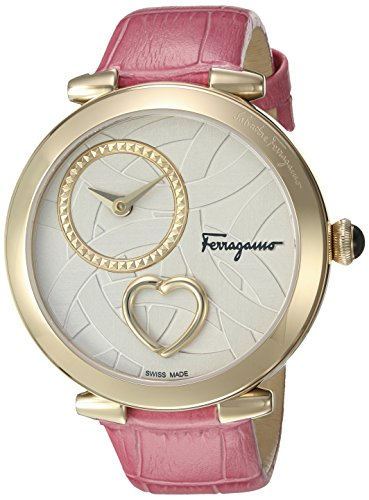Salvatore-Ferragamo-Womens-Beating-Heart-Swiss-Quartz-Stainless-Steel-and-Leather-Casual-Watch-ColorPink-Model-FE2040016