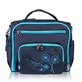 Yodo vers�tiles de bolsa de pa�ales en los cambios de pa�ales de algod�n de la mochila de Y de correa para el hombro y una bolsa de regalos y pantalla a juego para saco de dormir y la del beb�, con varios azul marino