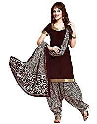 Taos womens pure cotton salwar suits for women New Arrival latest 2016 dress material party wear dresses Unstitched brown (711)