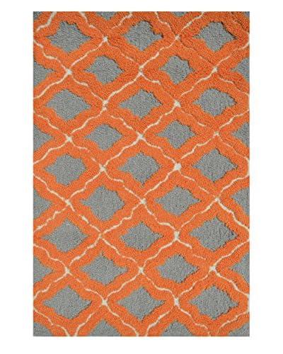 Pop Accents Marrakesh Indoor/Outdoor Scatter Rug, Orange/Grey, 22″ x 34″