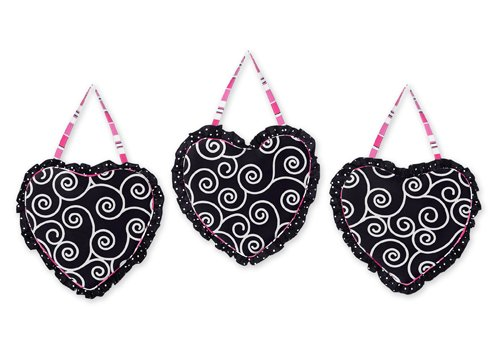 Pink And Black Madison Wall Hanging Accessories By Sweet Jojo Designs front-221365