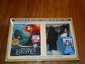 Brave EXCLUSIVE COMBO GIFT SET with Angus Plush Toy (2-Disc Blu-ray + DVD)