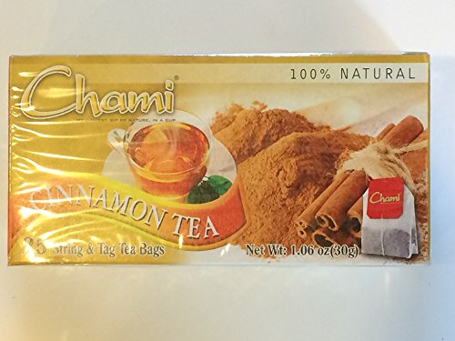 Chami 100% Natural Cinnamon Tea 25String & Tag Bags 1.06Oz (2 Pack)