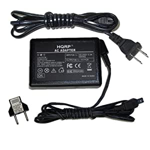 HQRP Replacement AC Adapter / Charger for JVC GZ-MG330 / GZMG330 (Black / Silver / Blue) Everio Camcorder with USA Cord & Euro Plug Adapter