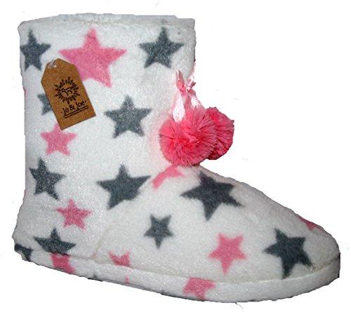 JO & JOE - Pantofole a Stivaletto donna , Bianco (White Star), M