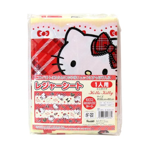 Hello Kitty Plaid Leisure Sheet Picnic Mat Beach Mat Table Linen Vs1 (Japanese Import)