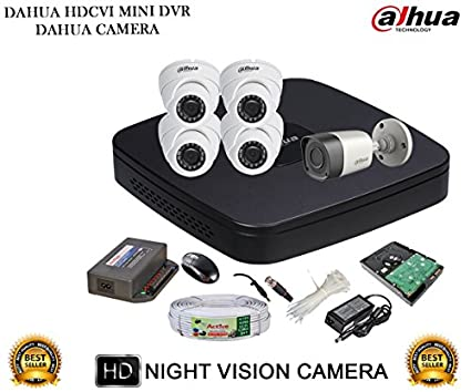 Dahua-DH-HCVR4108C-S2-8CH-Dvr,-4(DH-HAC-HDW1000RP)-Dome,-1(DH-HAC-HFW1000RP)-Bullet-Camera-(With-Accessories,2TB-HDD)