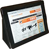 Protective Case / Wallet for iPad 2, 3 &amp; 4 with Flipstand PU Leather (Black)