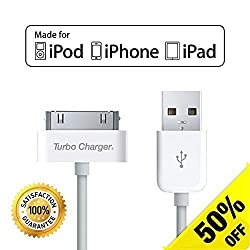 [Apple MFI Certified] Apple iPhone 4 Charger / iPhone 4s Charger Cable / Charging Cord - Dock Connector USB Charging Cable for iPhone 3GS Charger / iPhone 3G Charger / iPhone 3 Charger, iPad Charger and iPod Nano / Touch 1st