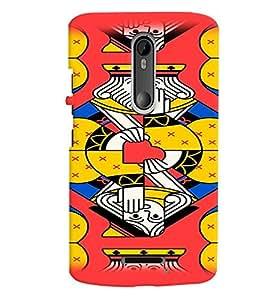 Fuson Premium King Printed Hard Plastic Back Case Cover for Motorola Moto X (3rd Gen)