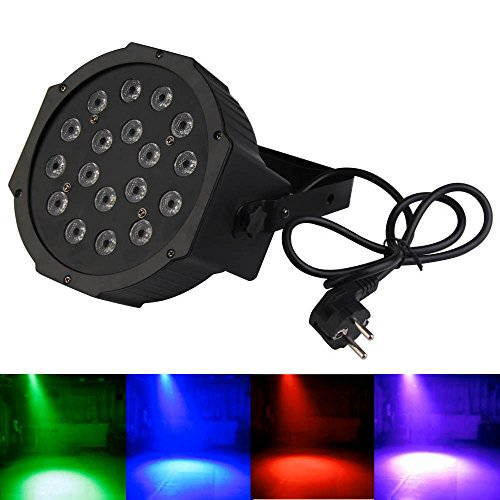 Vakind New Rgb 18*1W Led Dmx Flat Palmer Stage Lamp Light Lighting For Bar Party
