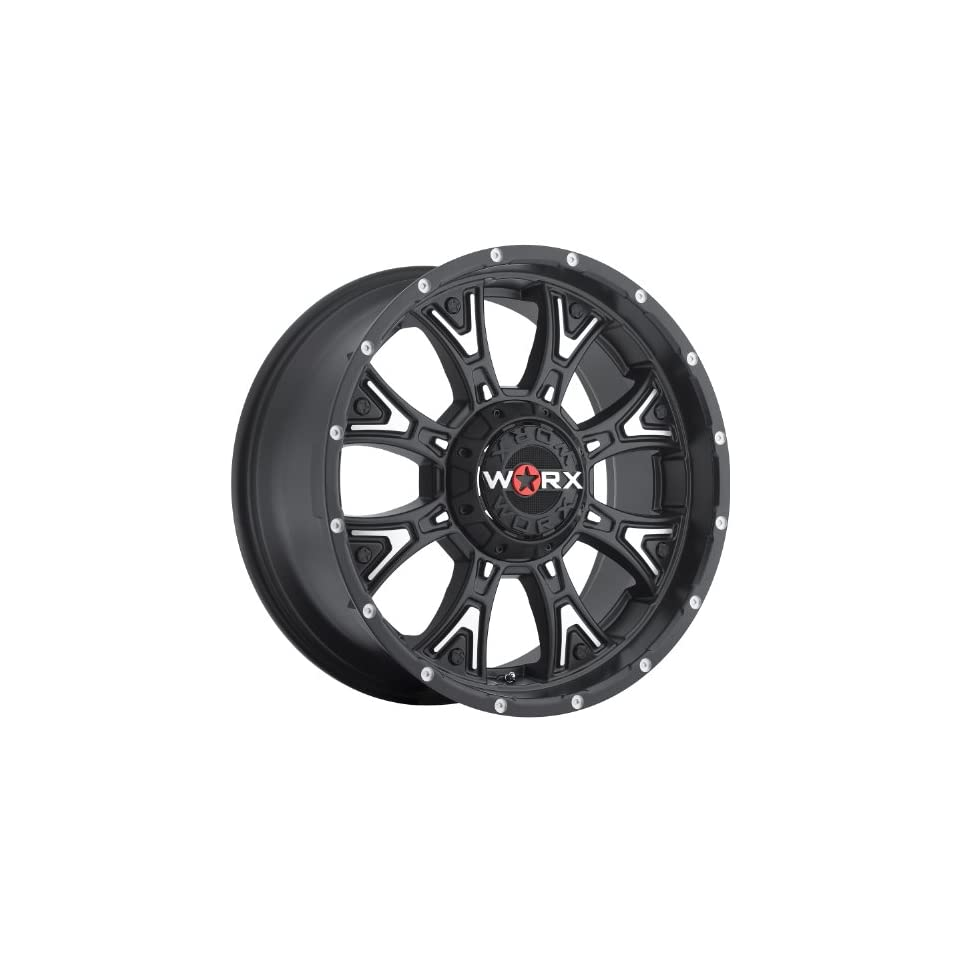 Worx Tyrant 20 Black Wheel / Rim 5x5 & 5x5.5 with a  25mm Offset and a 87 Hub Bore. Partnumber 805 2105SB25