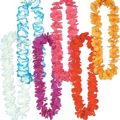 Silk 'N Petals Rainbow Leis (asstd colors) Party Accessory  (1 count) - 1