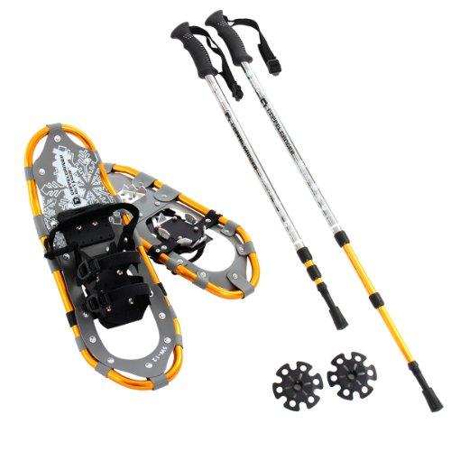 Outdoor aluminum alloy pole trekking snowshoe set [light weight compact 23 inch: SW-12TP