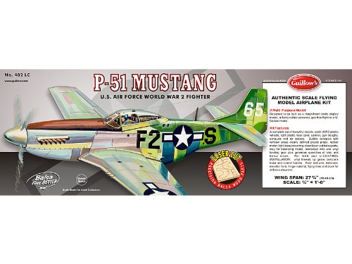 Guillow P51 Mustang Laser Cut Kit 27-3/4