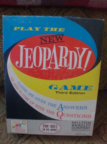 1964 Jeopardy 3rd Edition By Milton Bradley--the New Jeopardy Game - 1