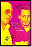 Hunter S. Thompson and Johnny Depp Art Print (With Signed Autograph Reproduction) Glossy Photo Poster Gift 30x20cm Quote Fear and Loathing in Las Vegas