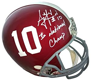 AJ McCarron Signed Alabama Crimson Tide Riddell Authentic NCAA Helmet with 3x... by Sports Memorabilia